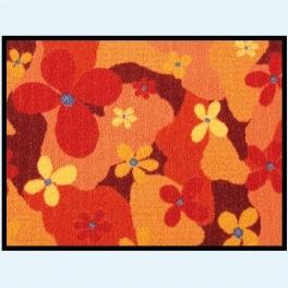 Dekor Tapis attrape-saleté 100x150 cm (17 fleurs)