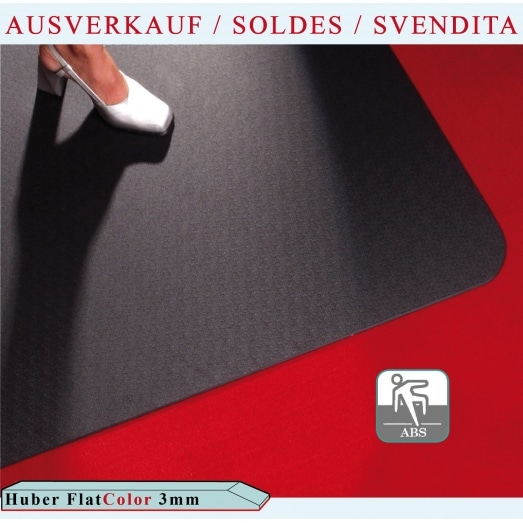 Huber Flat COLOR 3mm avec adherence (sols durs + moquettes)