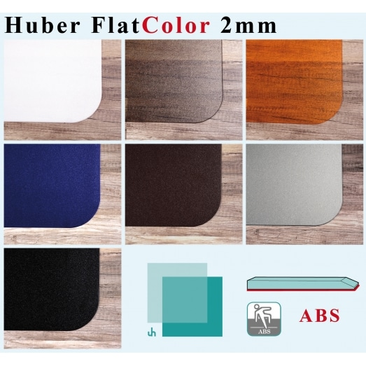 Huber Flat COLOR 2mm con ABS (per pavimenti duri)